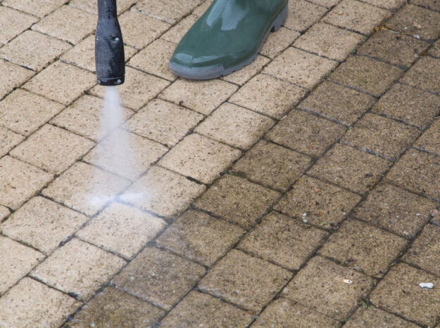 pavers pressure washing dedham ma