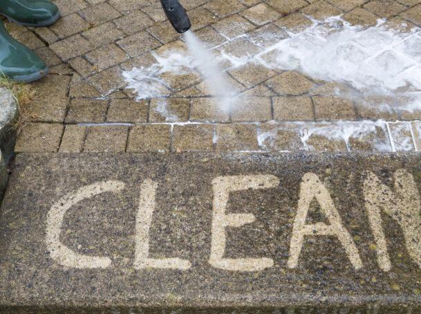 sidewalk pressure washing ma